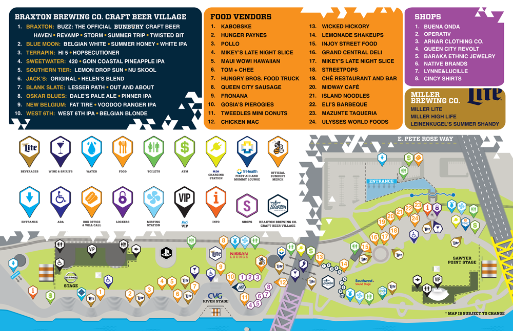 Bunbury 2016 Map