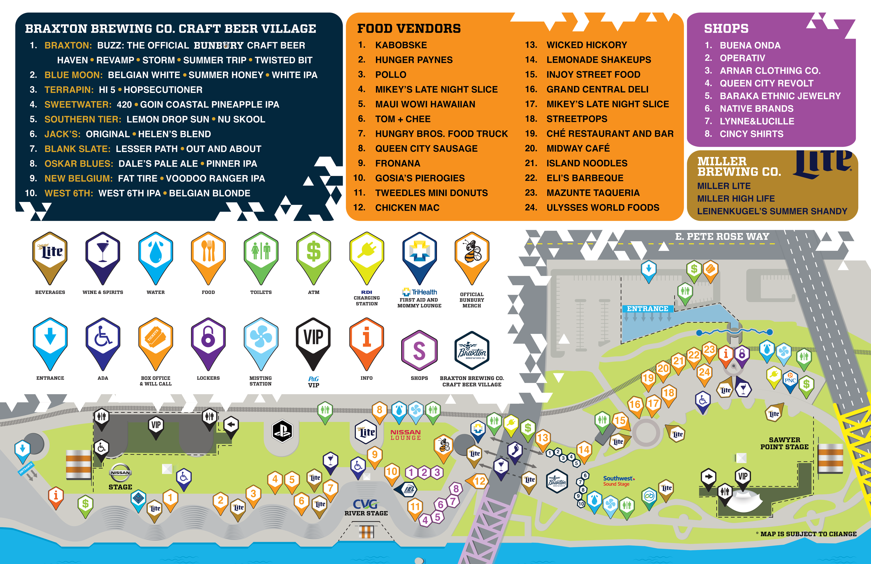 Map Bunbury Music Festival