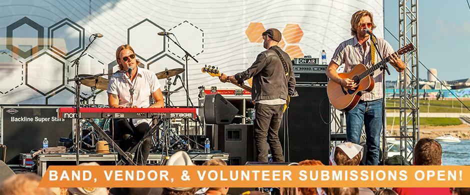 Band, Vendor, and Volunteer Submissions are Open!