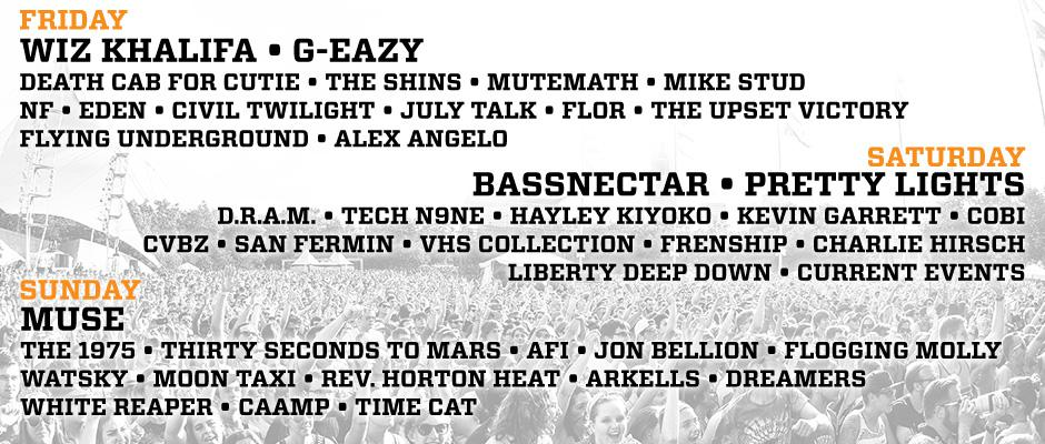 The Bunbury Daily Lineup is Here!