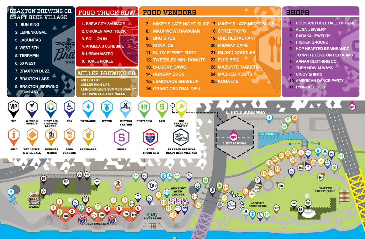 Bunbury 2018 Map
